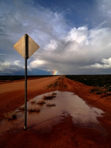 A rainbow at the end of the road :)